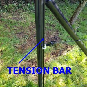 TENSION BAR 8 MM BLACK
